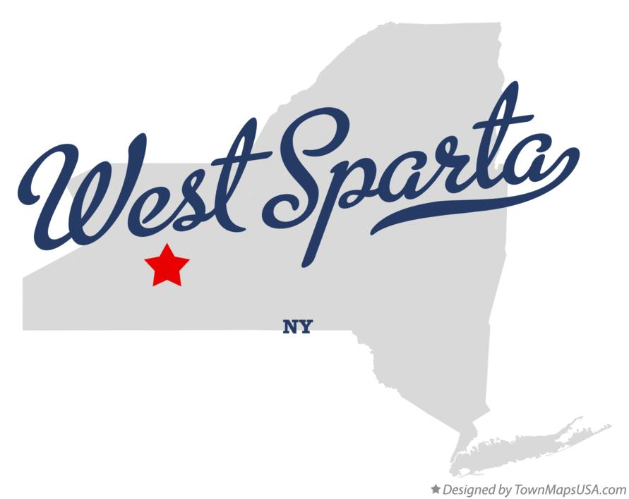 Map of West Sparta New York NY