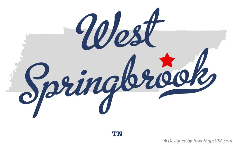 Map of West Springbrook Tennessee TN