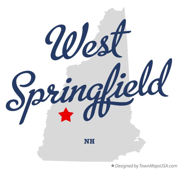 Map of West Springfield New Hampshire NH