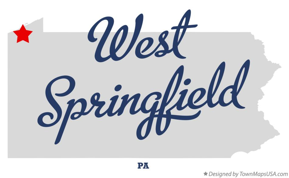 Map of West Springfield Pennsylvania PA