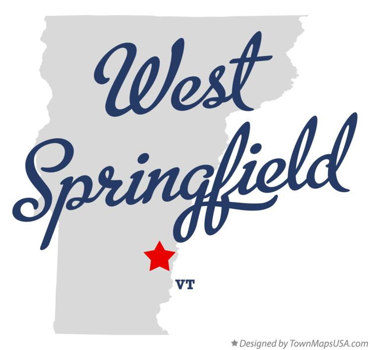 Map of West Springfield Vermont VT