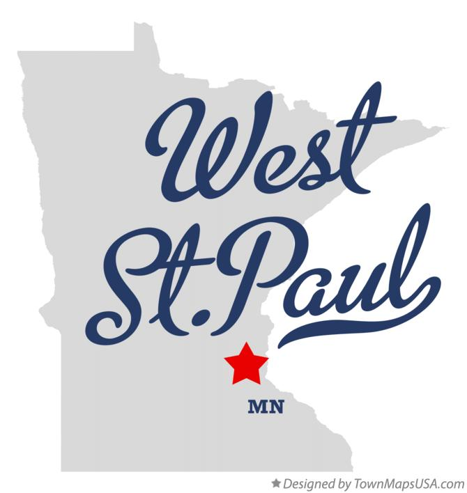Map of West St.Paul Minnesota MN
