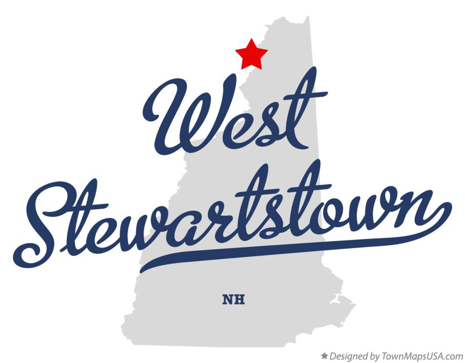 Map of West Stewartstown New Hampshire NH