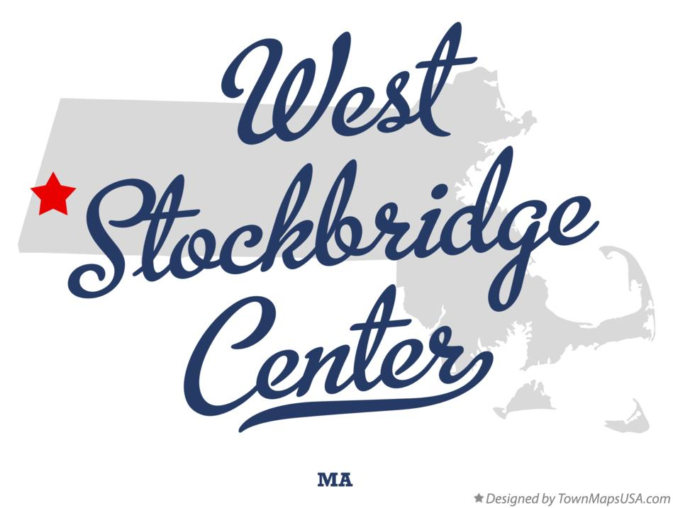 Map of West Stockbridge Center Massachusetts MA