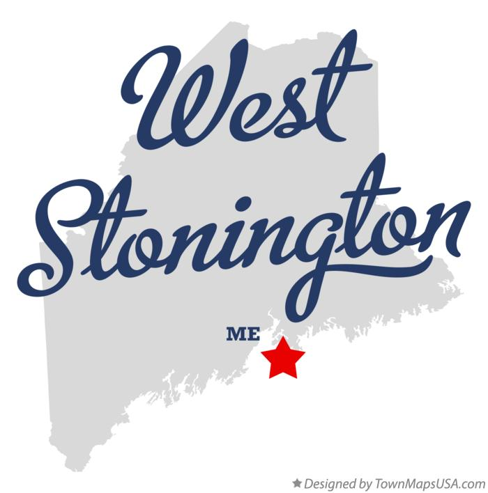 Map of West Stonington Maine ME