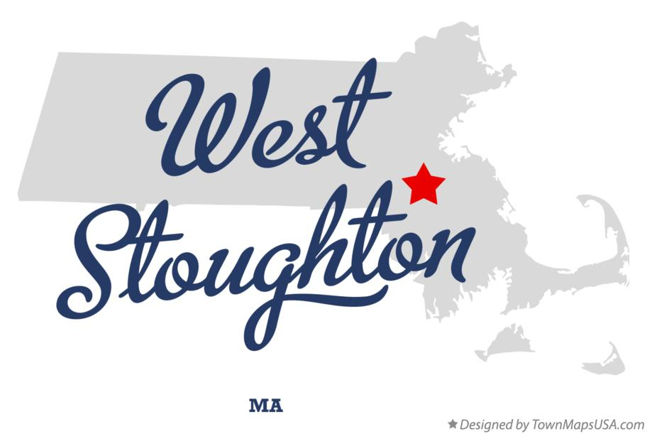 Map of West Stoughton Massachusetts MA