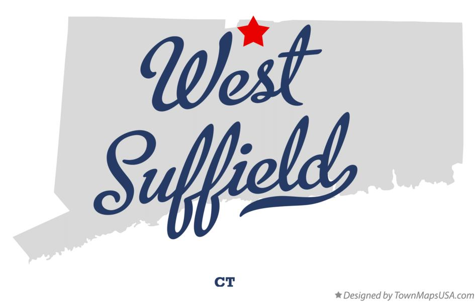 Map of West Suffield Connecticut CT