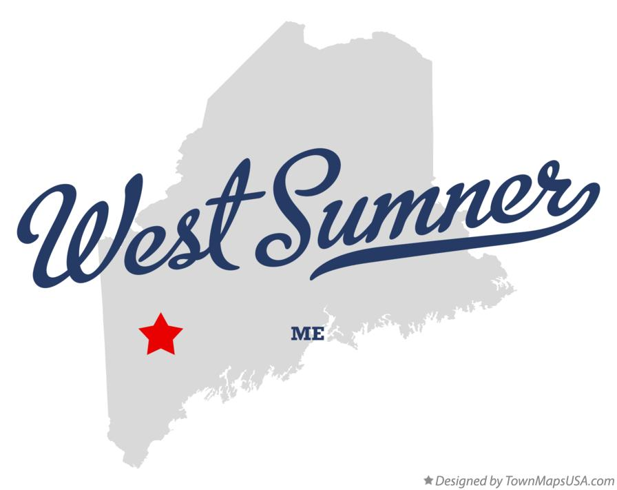 Map of West Sumner Maine ME
