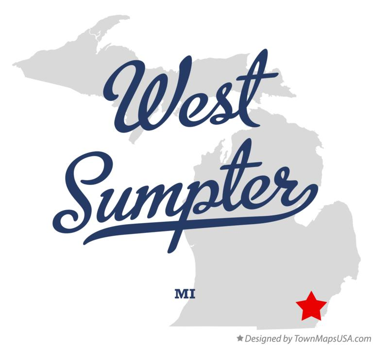 Map of West Sumpter Michigan MI