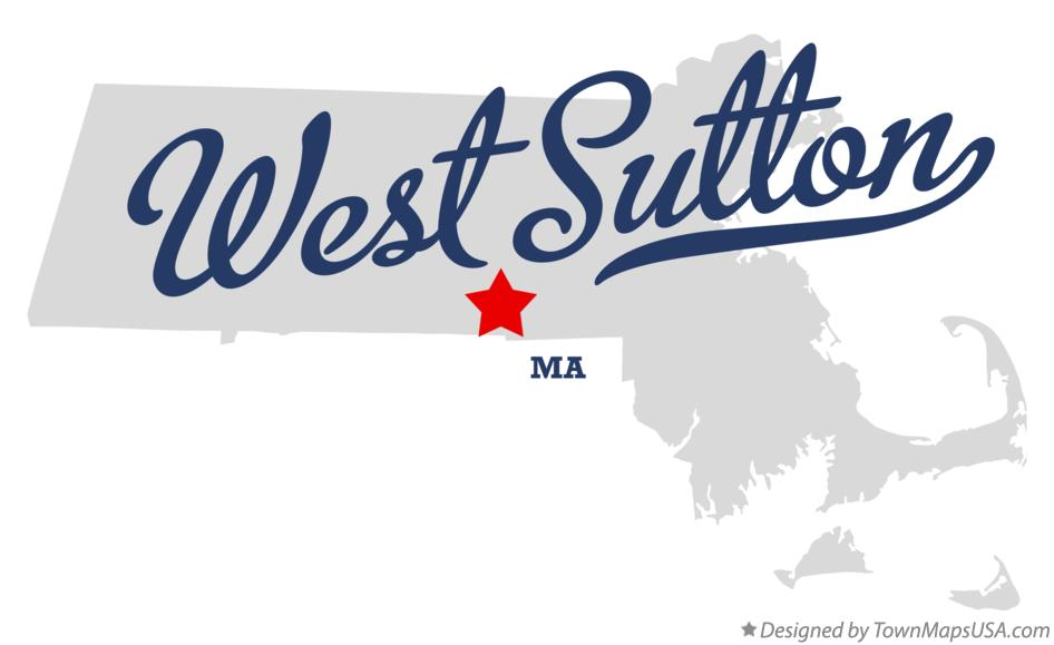 Map of West Sutton Massachusetts MA
