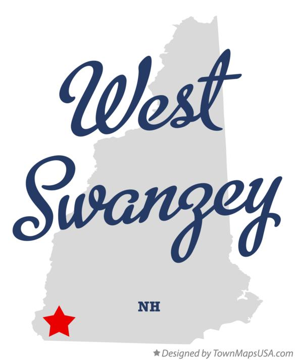 Map of West Swanzey New Hampshire NH