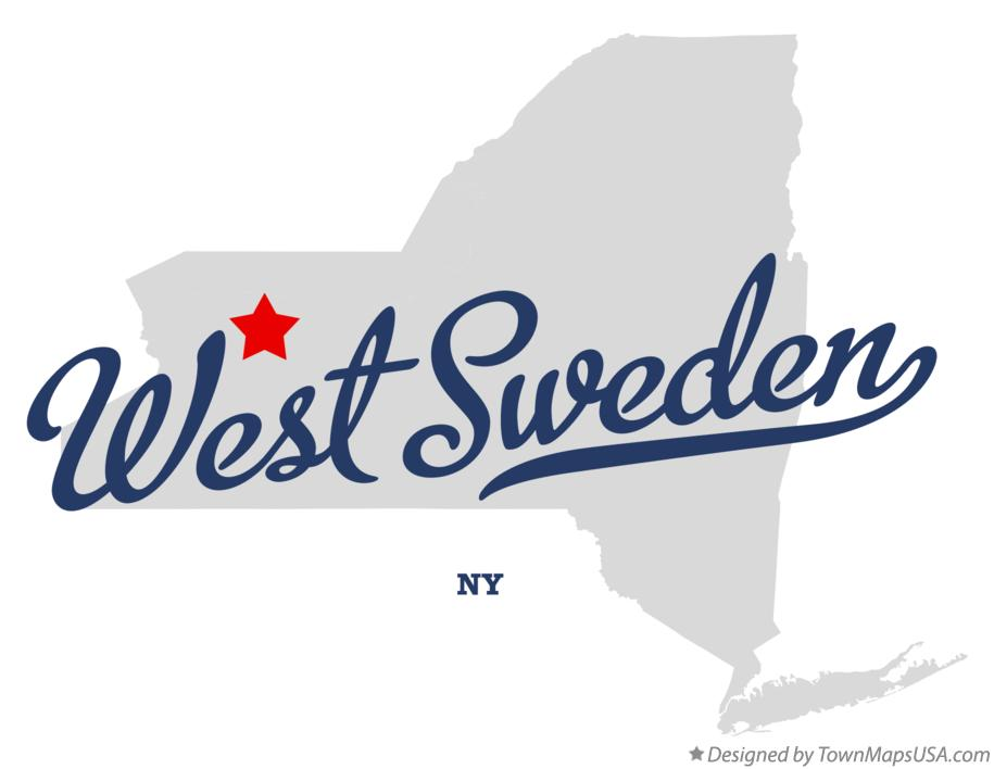 Map of West Sweden New York NY