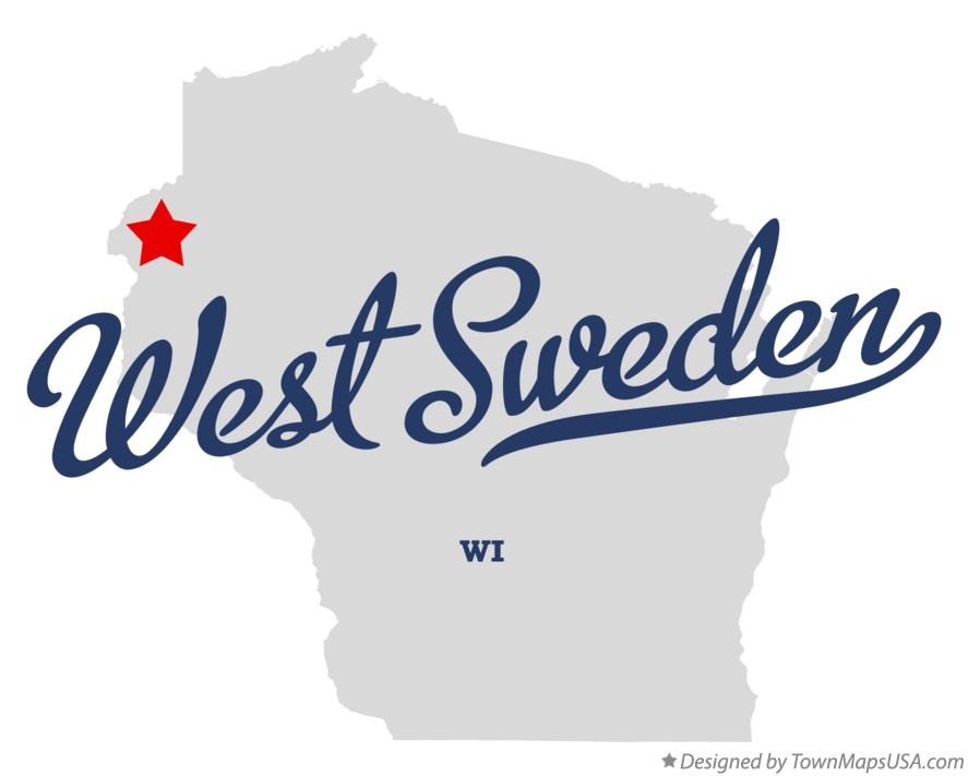 Map of West Sweden Wisconsin WI