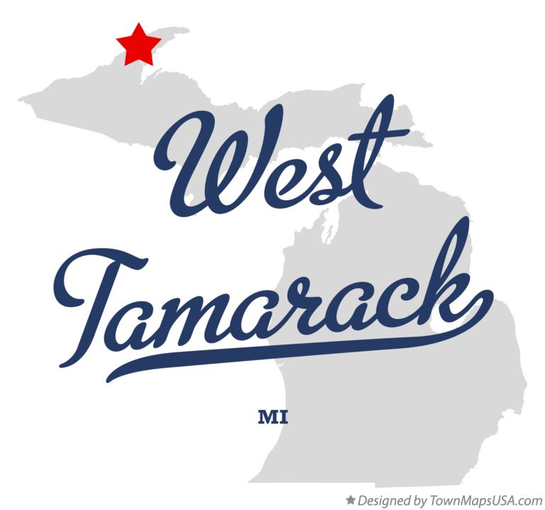 Map of West Tamarack Michigan MI