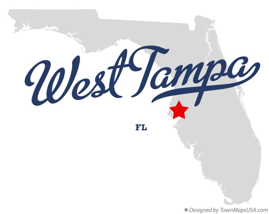 Map of West Tampa Florida FL