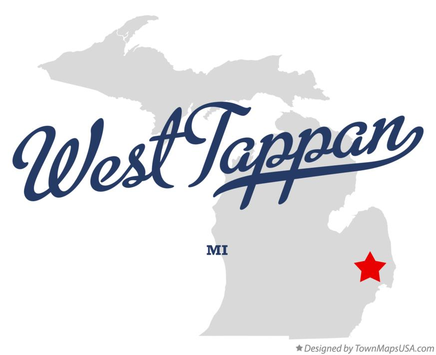 Map of West Tappan Michigan MI