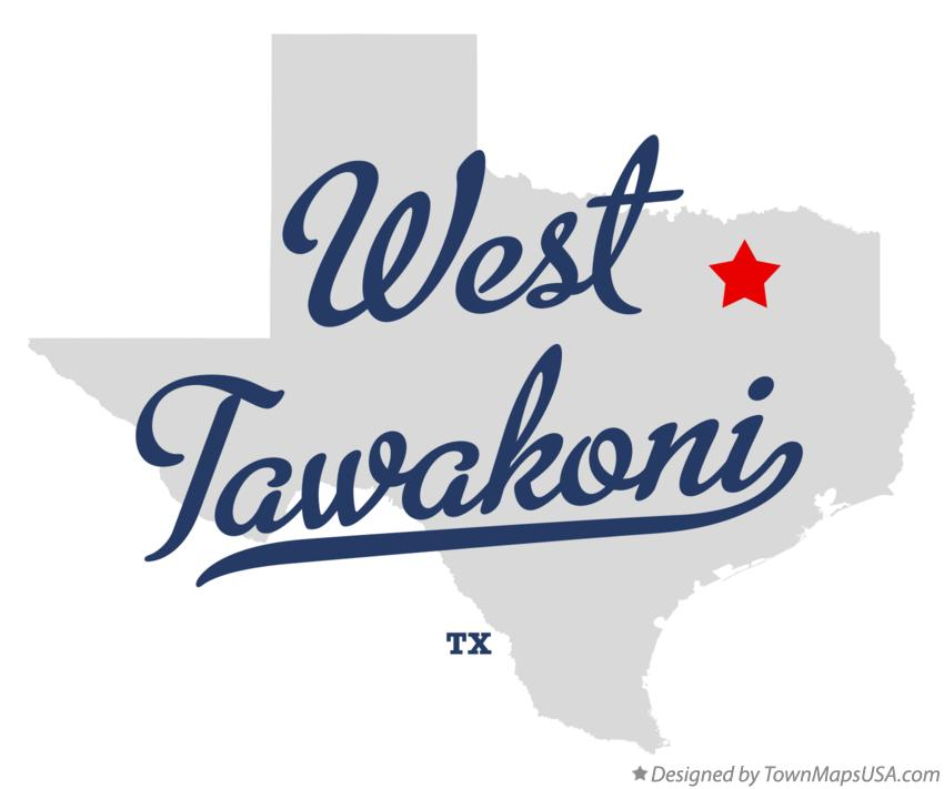 Map of West Tawakoni Texas TX