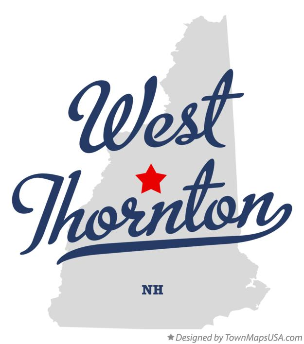 Map of West Thornton New Hampshire NH