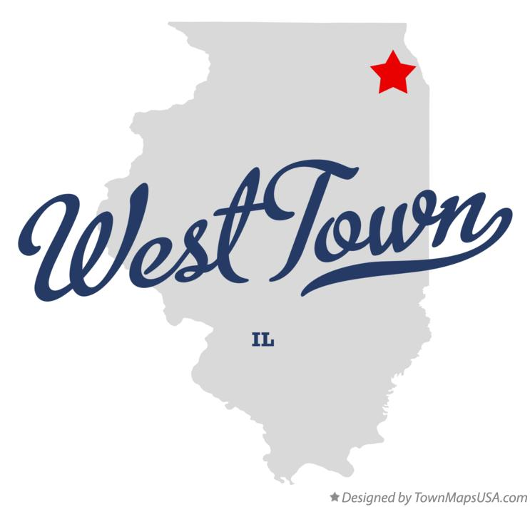 Map of West Town Illinois IL