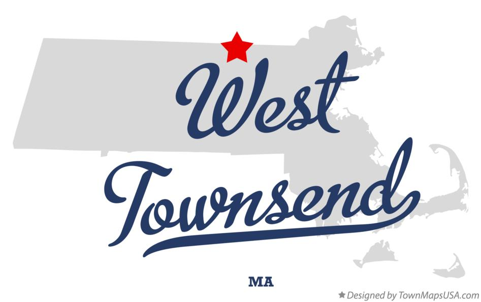 Map of West Townsend Massachusetts MA