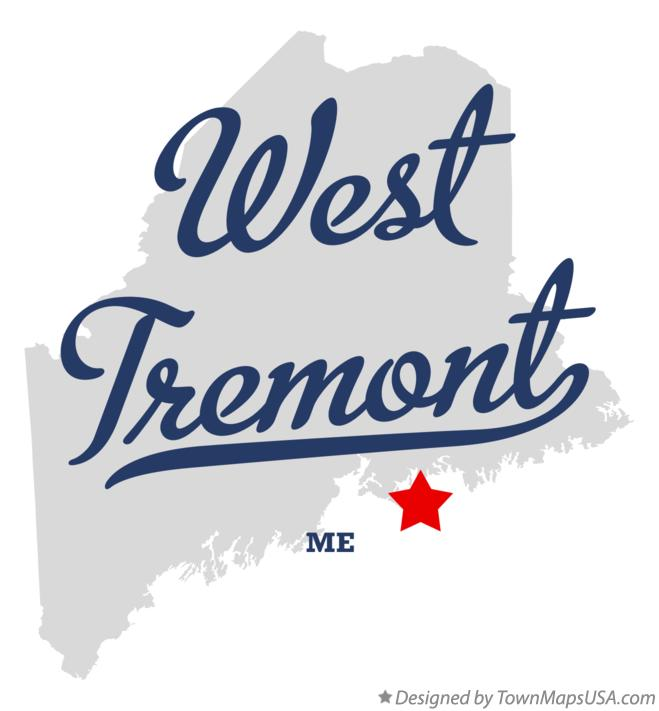 Map of West Tremont Maine ME