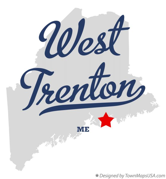 Map of West Trenton Maine ME