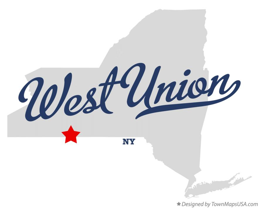 Map of West Union New York NY
