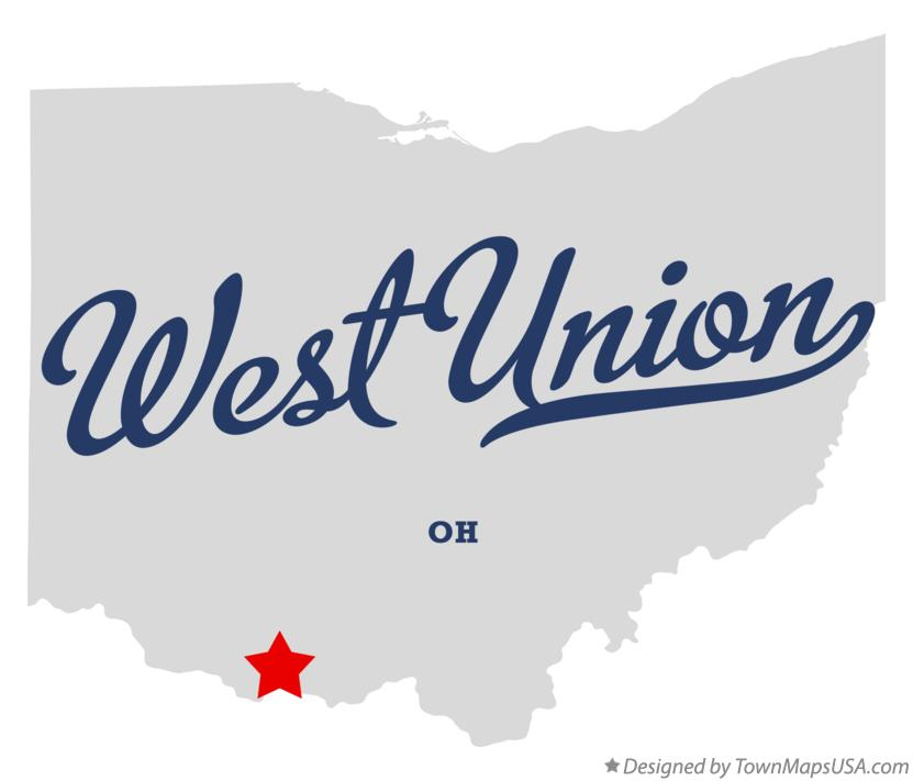 Union Ohio Map.Map Of West Union Oh Ohio