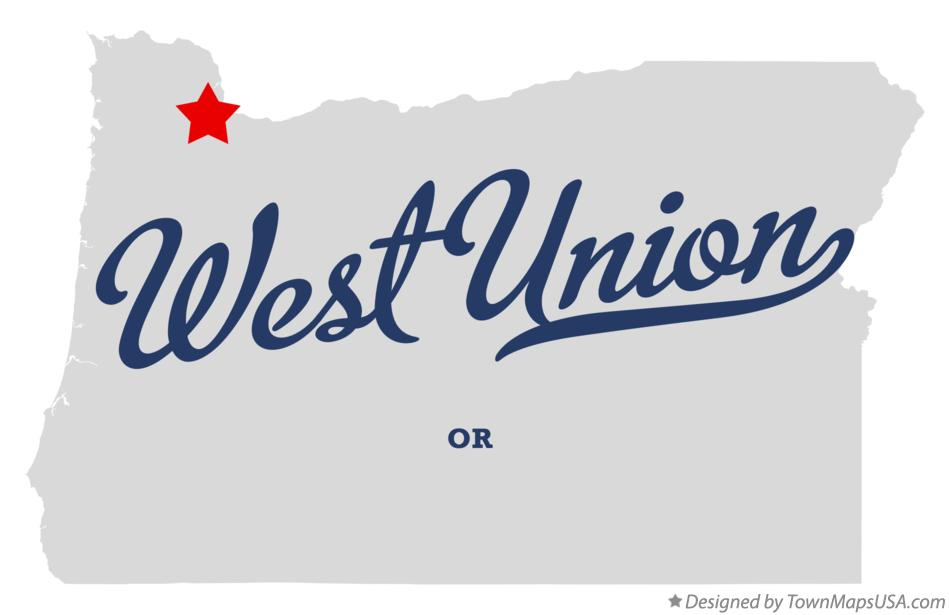 Map of West Union Oregon OR