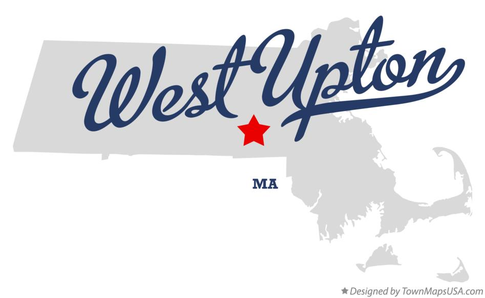 Map of West Upton Massachusetts MA