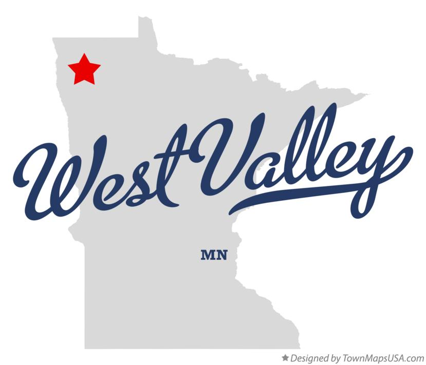 Map of West Valley Minnesota MN