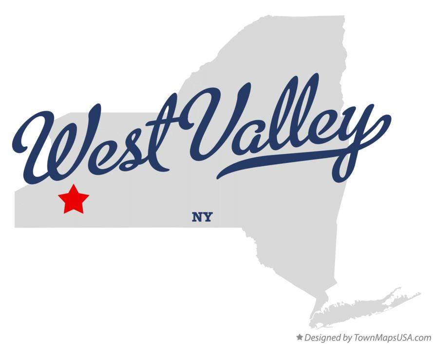 Map of West Valley New York NY
