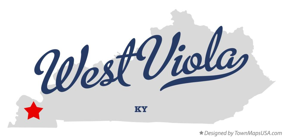 Map of West Viola Kentucky KY