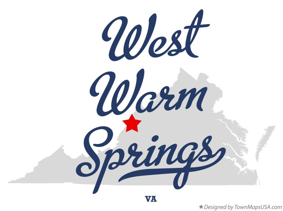 Map of West Warm Springs Virginia VA
