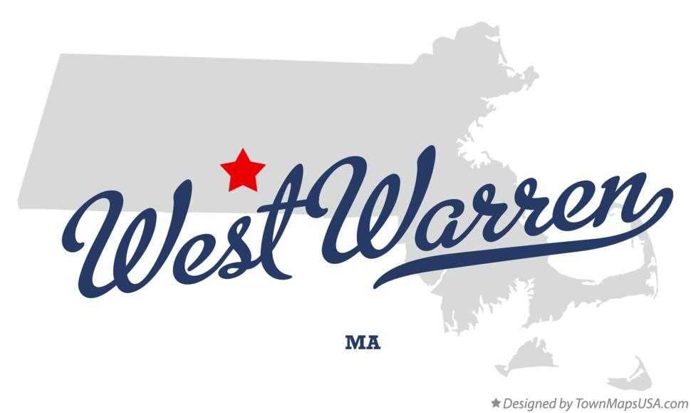 Map of West Warren Massachusetts MA