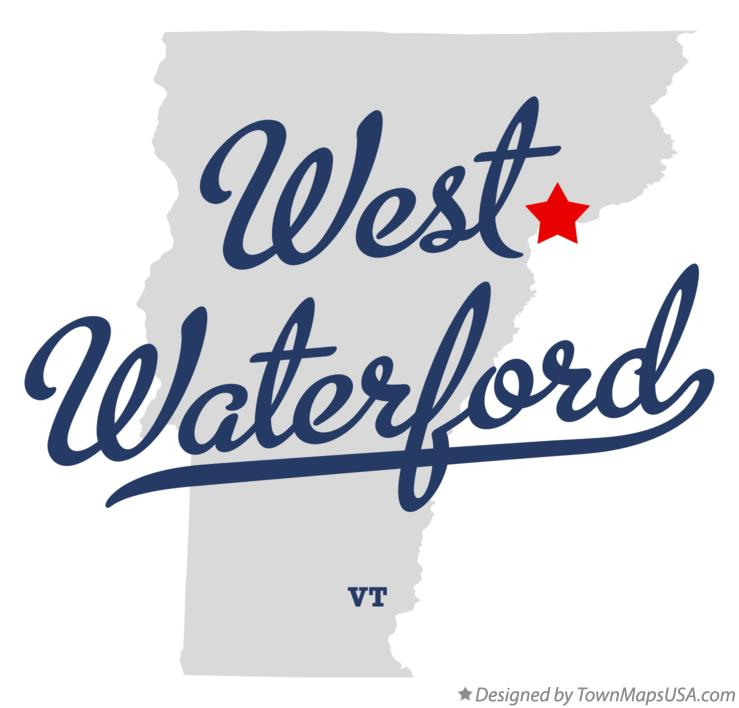 Map of West Waterford Vermont VT