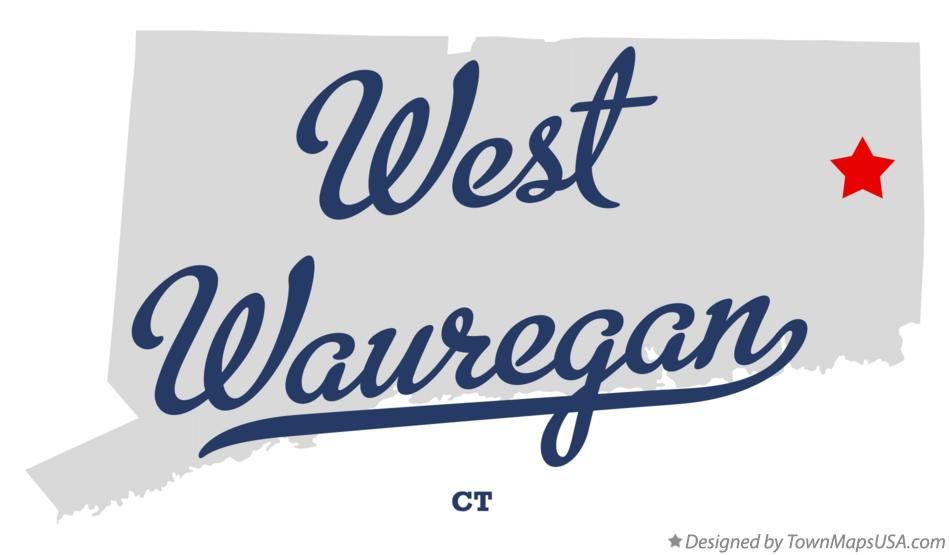 Map of West Wauregan Connecticut CT