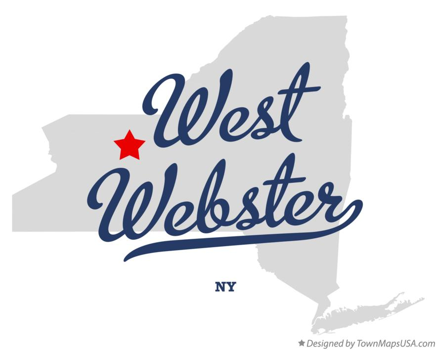 Map of West Webster New York NY