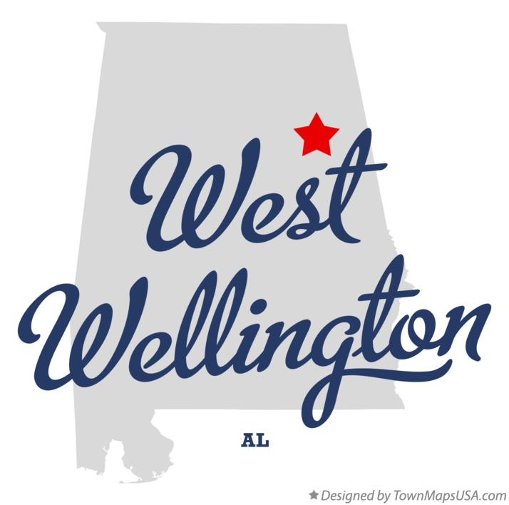 Map of West Wellington Alabama AL