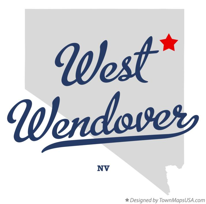 Map of West Wendover Nevada NV