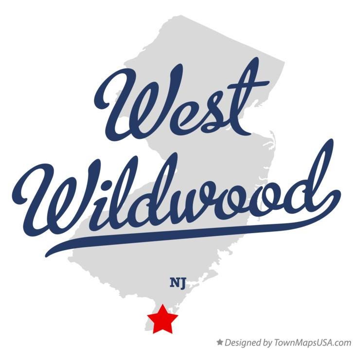 Map of West Wildwood New Jersey NJ
