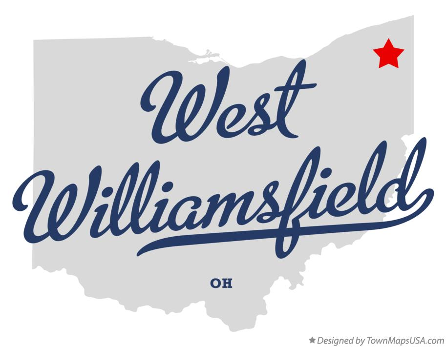 Map of West Williamsfield Ohio OH