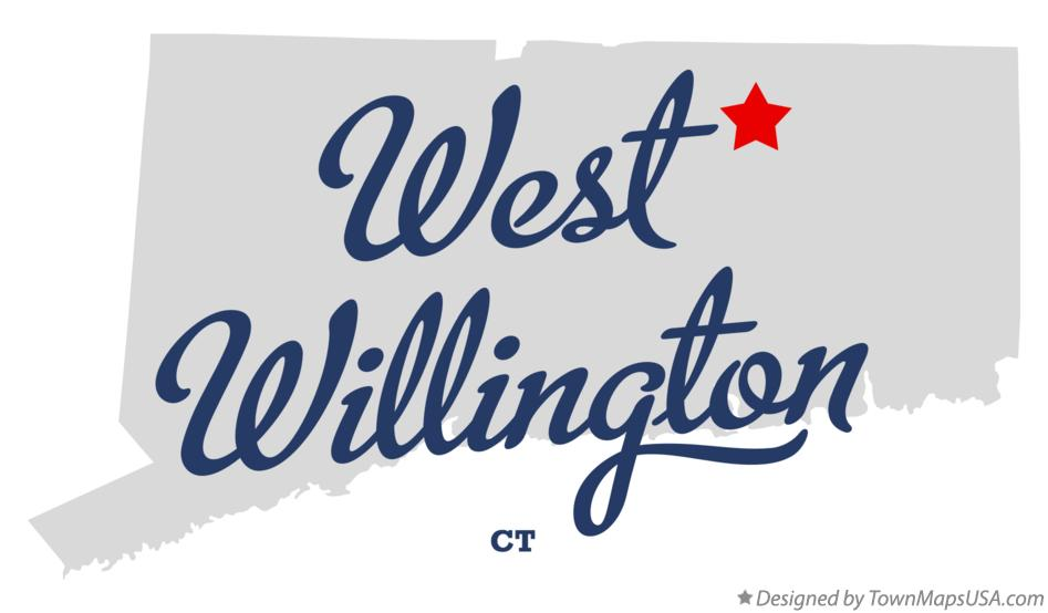 Map of West Willington Connecticut CT