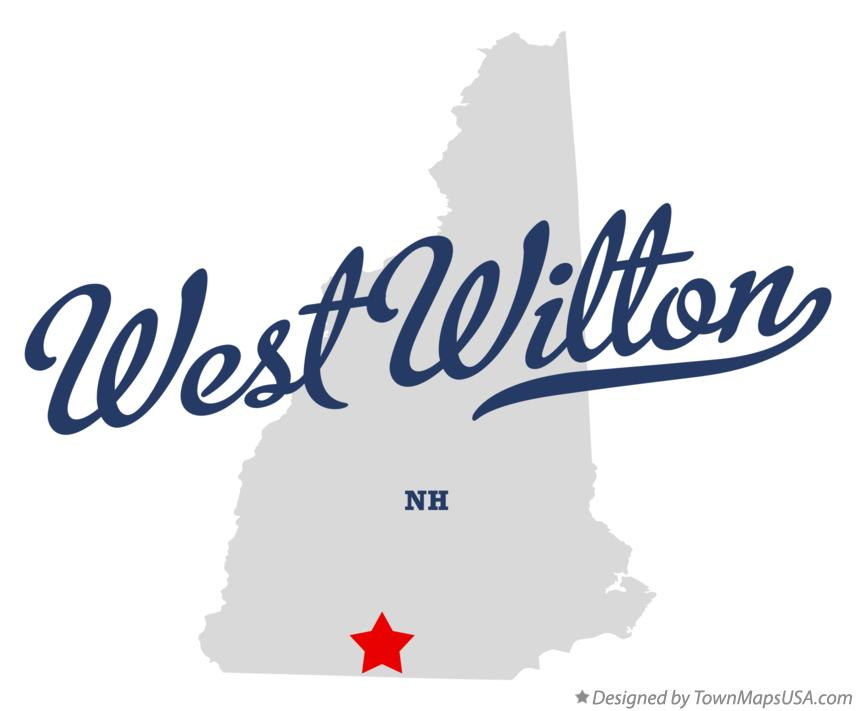 Map of West Wilton New Hampshire NH