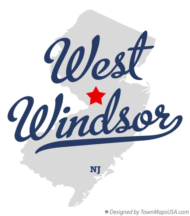 Map of West Windsor New Jersey NJ