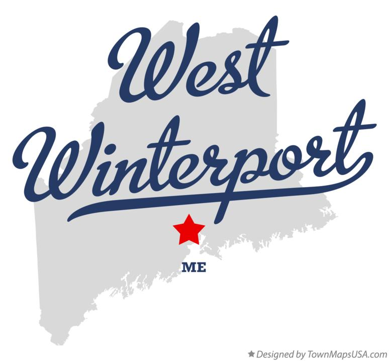 Map of West Winterport Maine ME