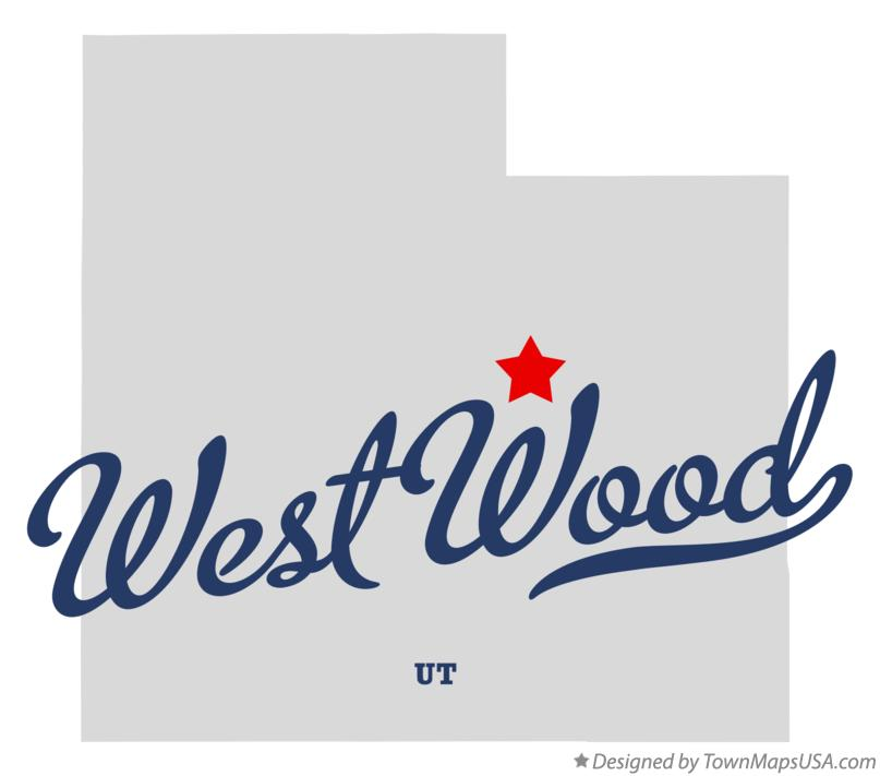 Map of West Wood Utah UT