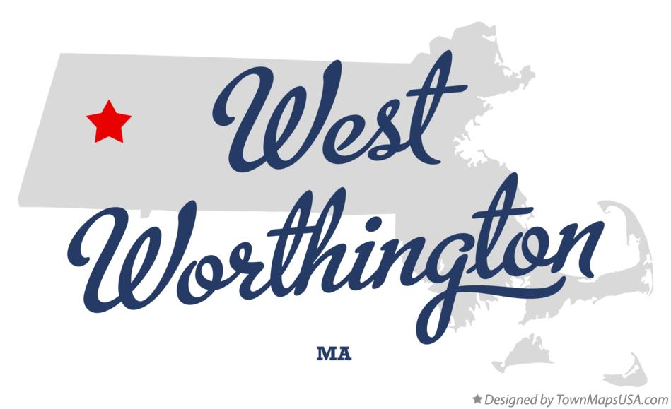 Map of West Worthington Massachusetts MA