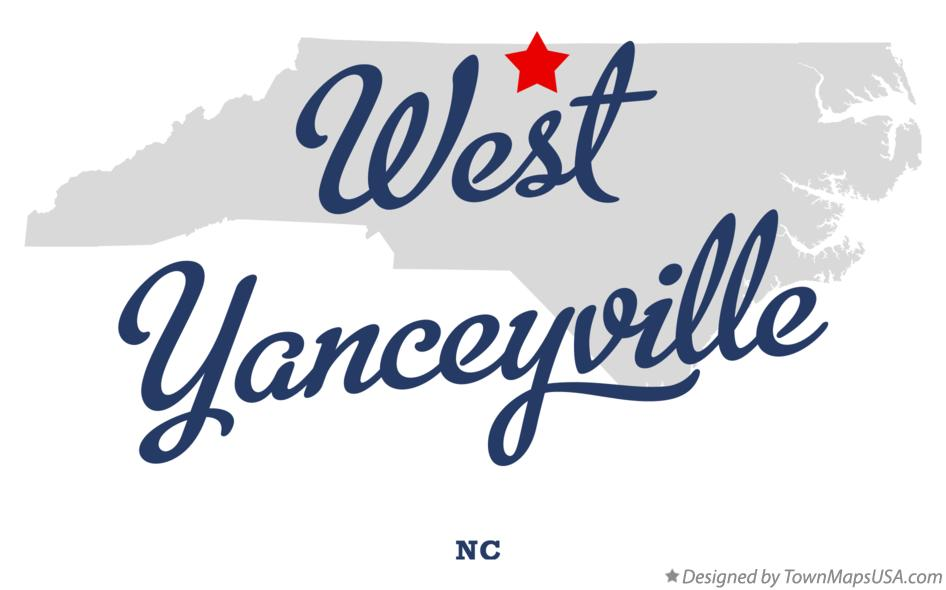 Map of West Yanceyville North Carolina NC