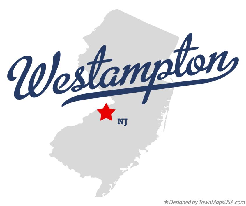 Map of Westampton New Jersey NJ